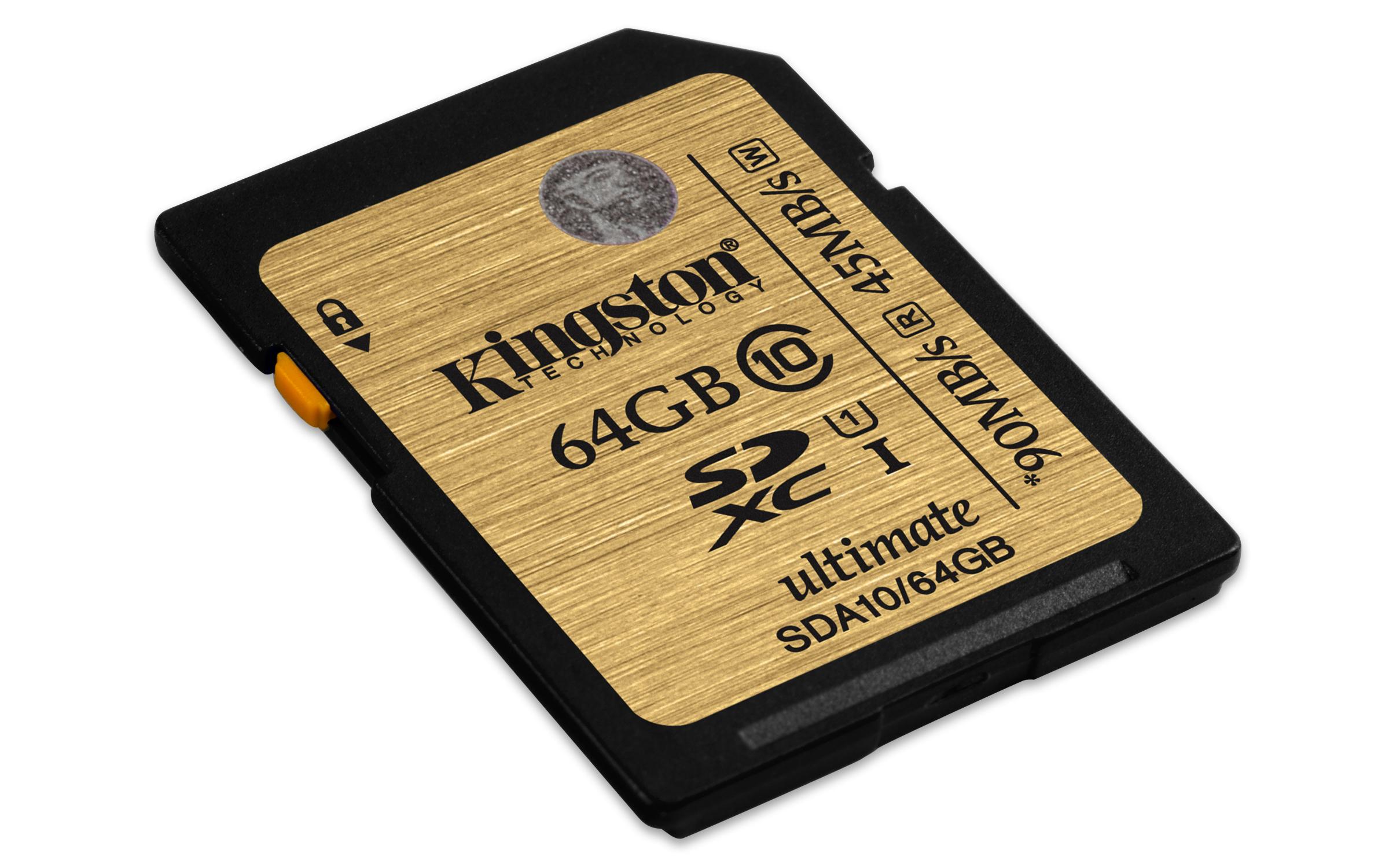 64GB SDXC Ultimate UHS-I Kingston class 10
