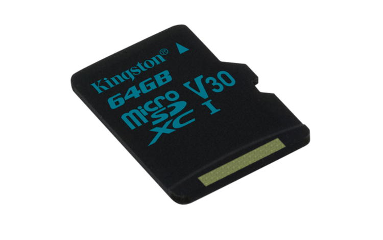 KINGSTON 64GB microSDHC Canvas Go 90R/45W U3 UHS-I V30 Card bez adapteru