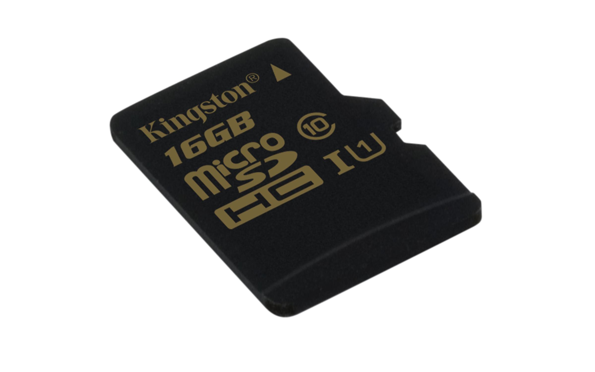KINGSTON 16GB microSDHC Class 10 UHS-I 90MB/s read 45MB/s write bez adaptéru