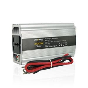 WE Měnič napětí DC/AC 12V / 230V, 400W, USB
