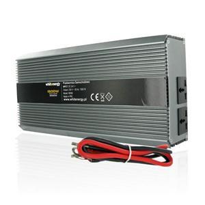 WE Měnič napětí DC/AC 24V / 230V, 1500W, 2 zásuvky