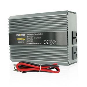Whitenergy Napěťový měnič AC/DC z 24V na 230V 1000 W, 2 zásuvky