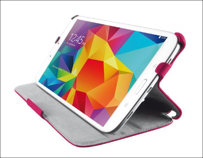 TRUST Stile Folio Stand for Galaxy Tab4 7.0 - pink