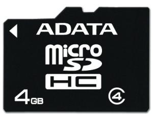ADATA 4GB MicroSDHC Card with Adaptor Class 4