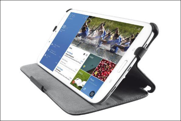 TRUST Pouzdro na tablet Stile Folio Stand for Galaxy Tab4 7.0 - black/černé