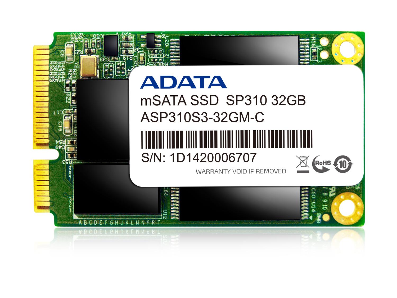 ADATA SSD Premier Pro SP310 32GB mSATA SATA3 MLC (285MB/s; 50MB/s), box
