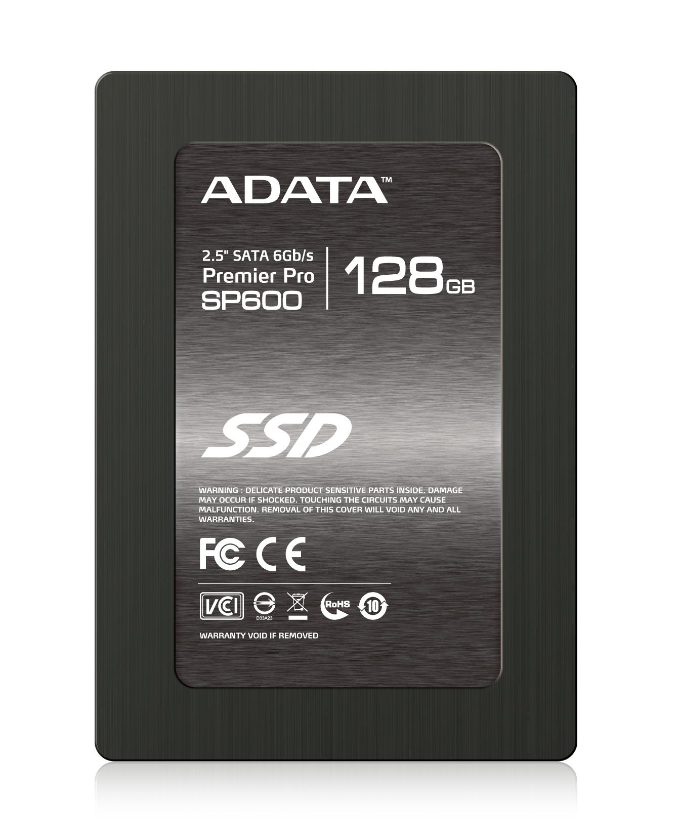 """ADATA SSD SP600 128GB 2.5"""" SATA III 540/150MB/s"""