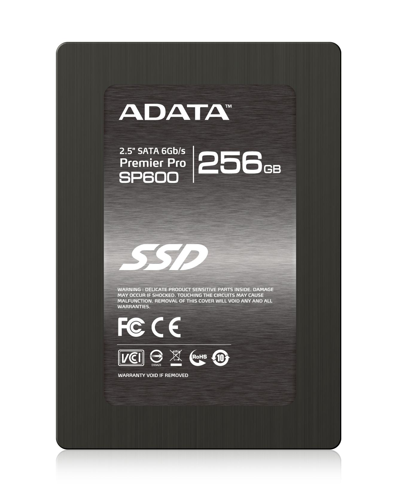 """ADATA SSD SP600 256GB 2.5"""" SATA III 540/290MB/s"""