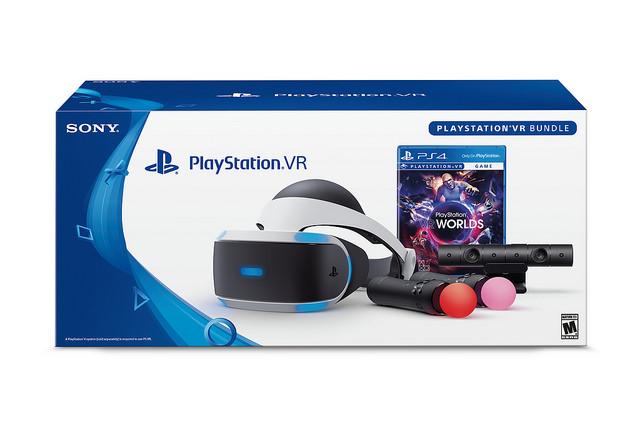 PS4 - PS VR headset bundle-kamera+ move+ VR Worlds