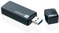 CONNECT IT USB 3.0 čtečka karet GEAR černá
