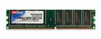 Patriot 1GB 400MHz DDR CL3 DIMM