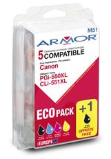 Armor multipack pro Canon PGI550BKXL+CLI551XL CMYK