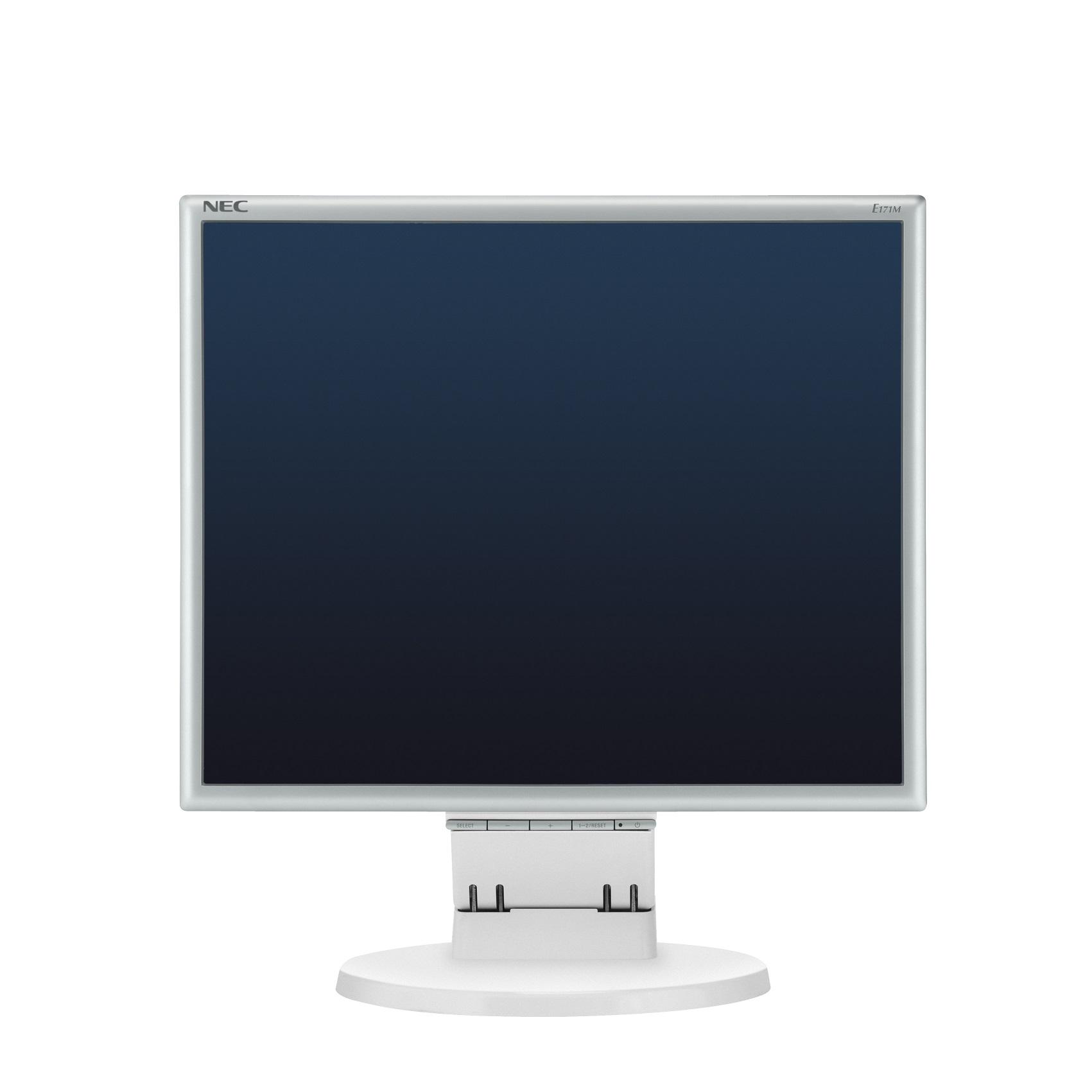 """NEC 17"""" E171M - 1280x1024, TN, W-LED, 250cd, D-sub, DVI, Repro, stříbrno-bílý"""