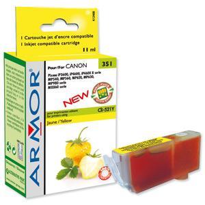 ARMOR cartridge pro CANON iP 3600/4600 Yellow s čipem (CLI521Y)