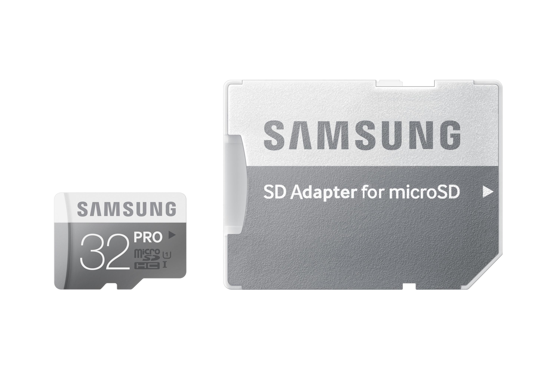 Samsung Micro SDHC karta 32GB Class 10 PRO + SD adaptér