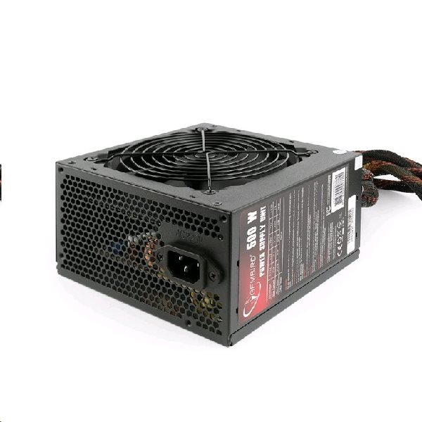 "Zdroj GEMBIRD 600W ATX/BTX, active PFC, 12 cm fan, ""BlackBoxPower"" series, 80+Bronze"