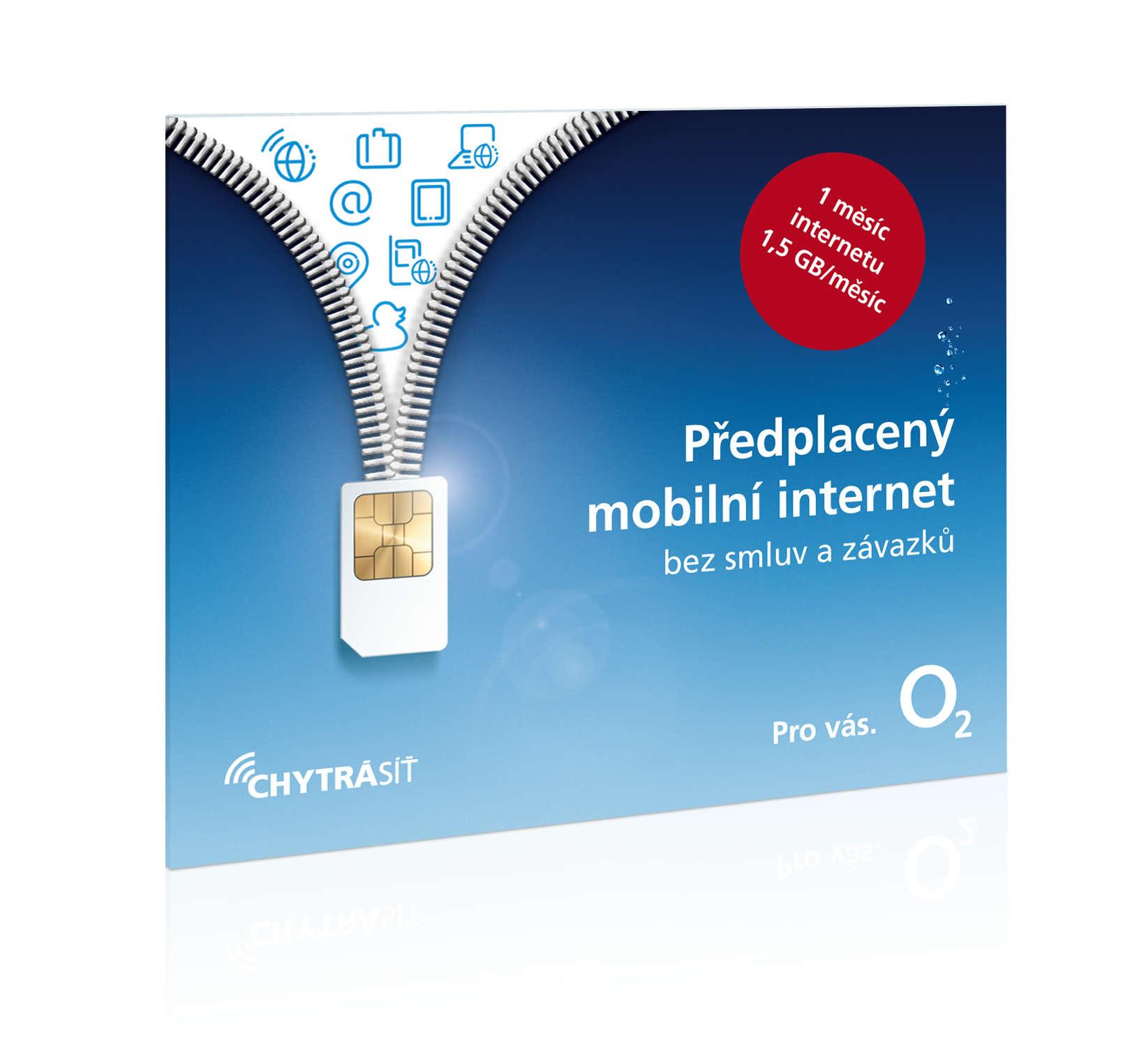 O2 Předplacený mobilní internet s 1,5GB