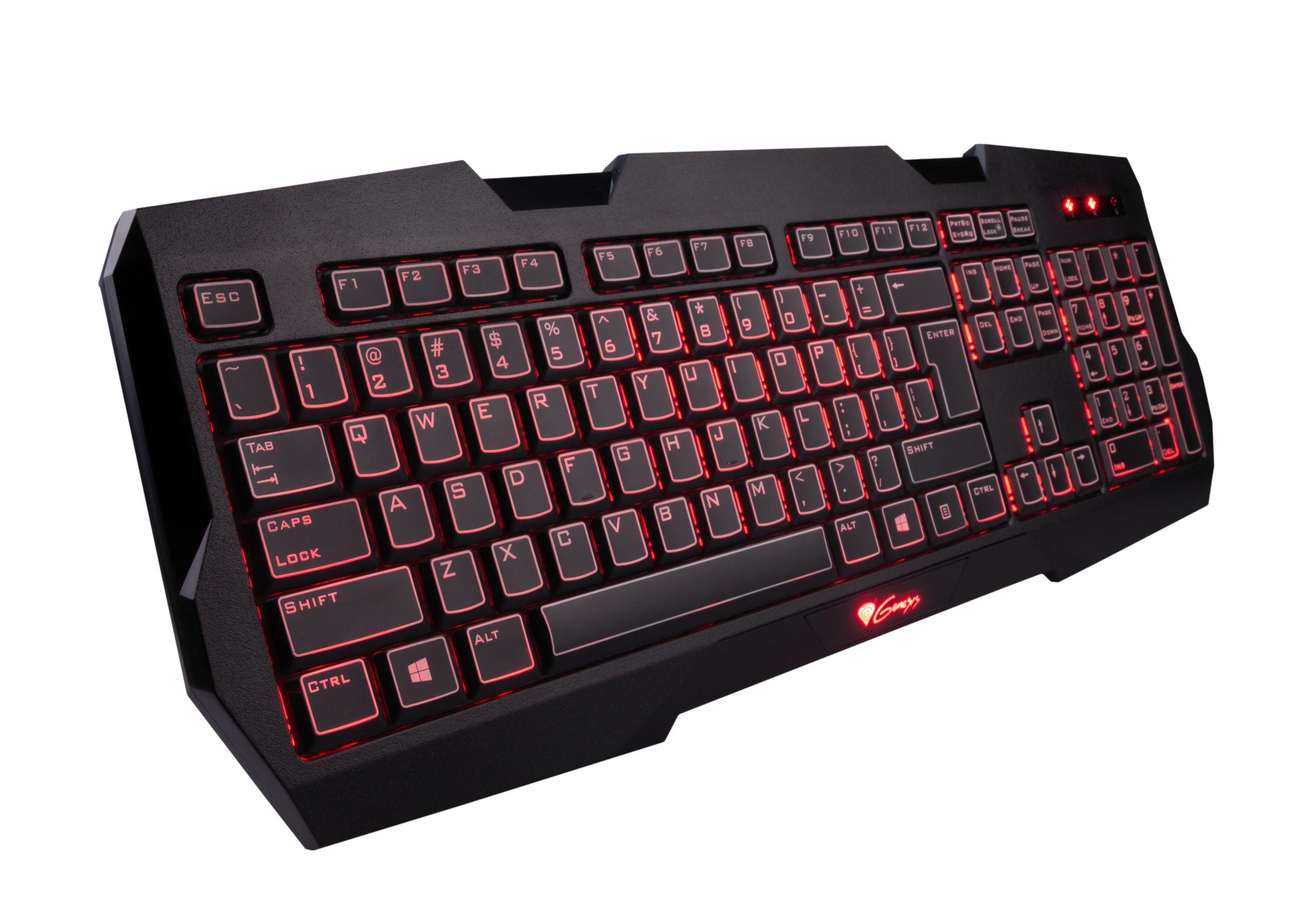 Herní klávesnice Natec Genesis RX22, US,podsvícení