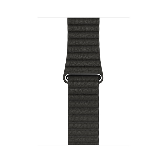 Watch Acc/42/Charcoal Gray Leather Loop - M