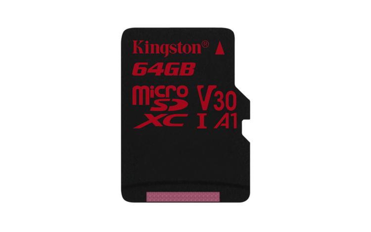 KINGSTON 64GB microSDHC Canvas React 100R/70W U3 UHS-I V30 A1 Card bez adapteru
