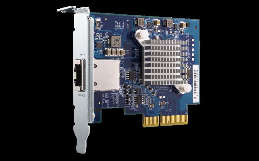 QNAP QXG-10G1T - 10GbE karta pro PC i QNAP NAS