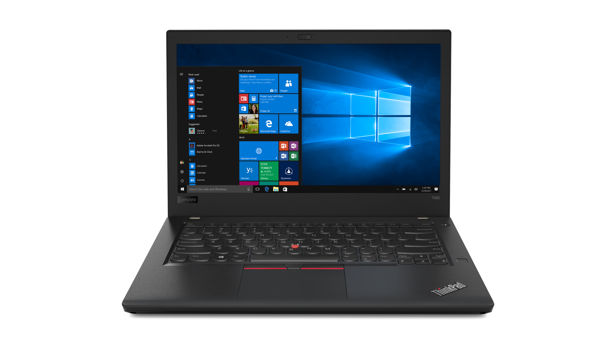 "Lenovo ThinkPad T480 i7-8550U/8GB/256GB SSD/UHD Graphics 620/14""FHD IPS/4G/Win10PRO/Black"