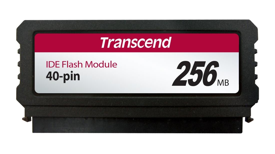 Transcend PTM520 256MB IDE FLASH modul 40pin Vertical (SLC), SMI (V)