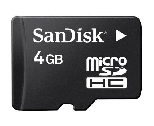 Paměťová karta Sandisk Micro SDHC 4GB + adaptér SD