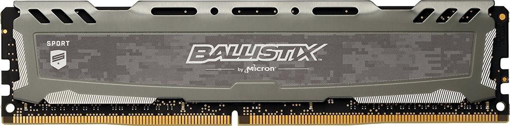 Crucial Ballistix Sport LT, 16GB, DDR4 2666MHz, UDIMM, Gray