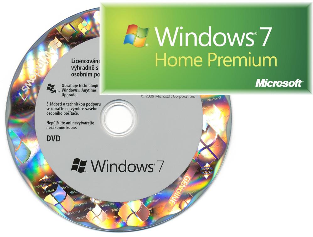 OEM GGK Win Home Prem 7 SP1 32-bit/x64 CZ (legalizace) DVD