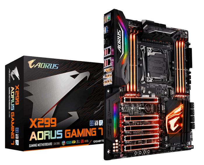 Gigabyte X299 AORUS Gaming, X299, SATA3, DDR4, USB3.1 gen.2, ATX