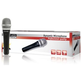 König KN-MIC50 - směrový dynamický mikrofon, kov, černý