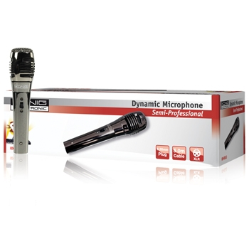 KÖNIG směrový dynamický mikrofon kov černý - KN-MIC40*