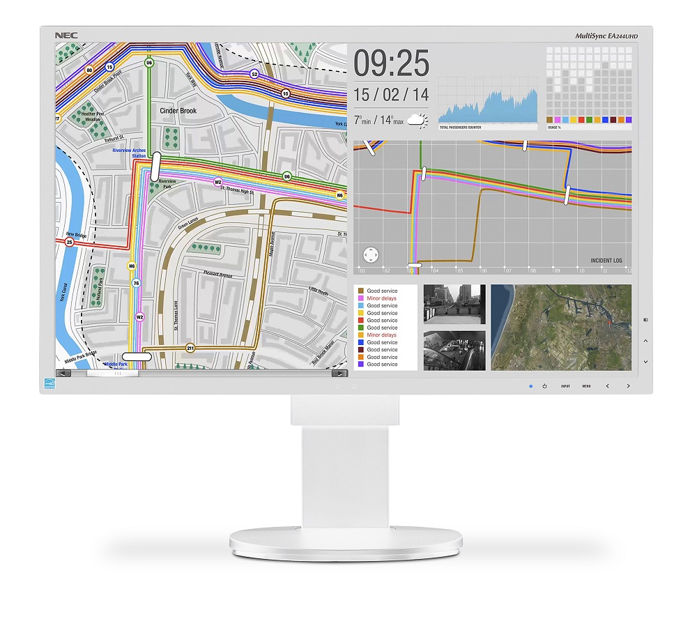 "NEC 24"" EA244UHD - 3840x2160, IPS, W-LED, 350cd, 2xDVI, 2xDP, 2xHDMI, USB, bílý"
