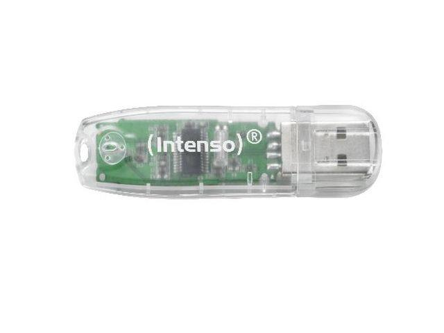 Intenso RAINBOW LINE TRANSPARENT 32GB USB 2.0 flashdisk