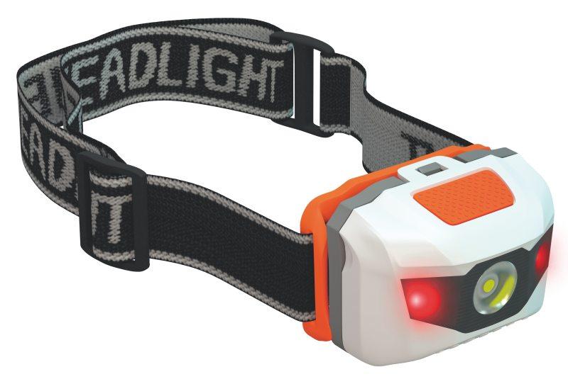 Emos LED svítilna čelovka HL-H0520, 1W + 2 červené LED, 3x AAA