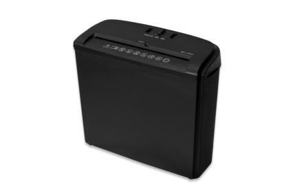 Ednet skartovací stroj na papír X5, příčný řez, černý 10L