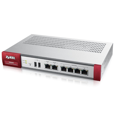 ZyXEL ZyWALL USG60, Security Firewall, VPN: 20x IPSec/ 12x SSL (2 default ), 6x 1Gbps (4x LAN/DMZ, 2x WAN), 2x USB, Fanl