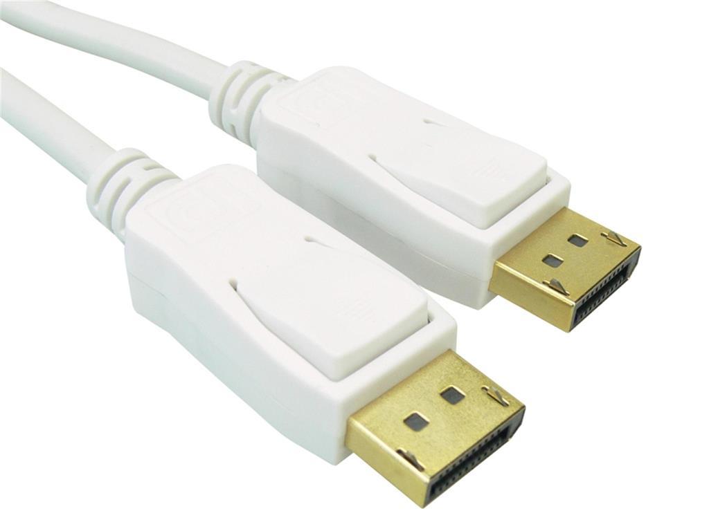 Sandberg kabel DisplayPort samec > DisplayPort samec, 2m, bílý