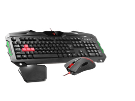 Drátová sada klávesnice+ myš A4-Tech Bloody Q2100 USB, US černá