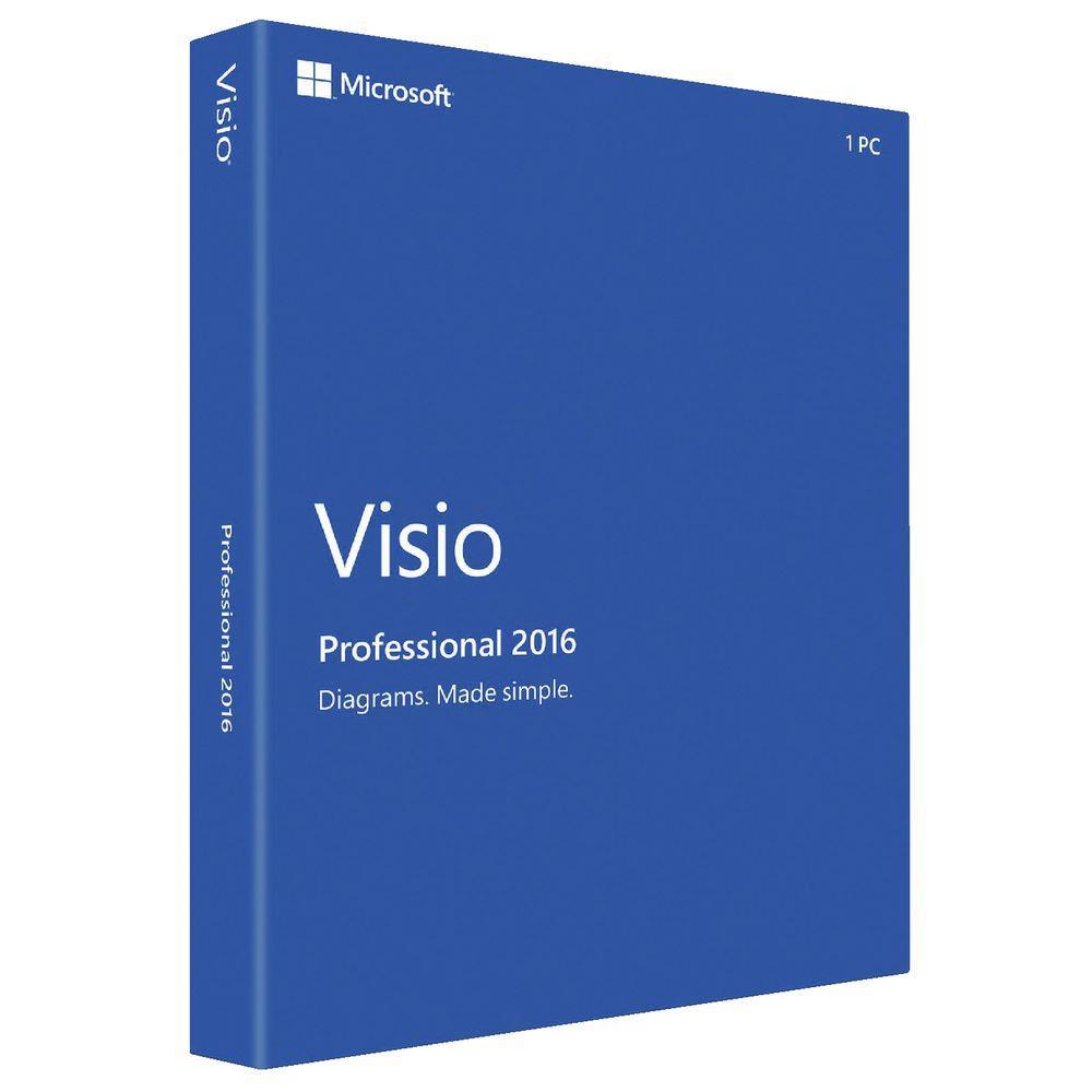 Visio Pro 2016 Win All Lng - elektronická licence
