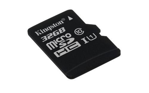 KINGSTON 32GB microSDHC Memory Card 45MB/10MBs- UHS-I class 10 Gen 2 - bez adaptéru