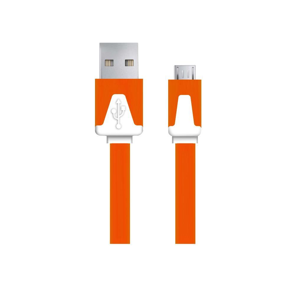 Esperanza EB183O kabel Micro USB 2.0 A-B M/M 1.0m, plochý, oranžový