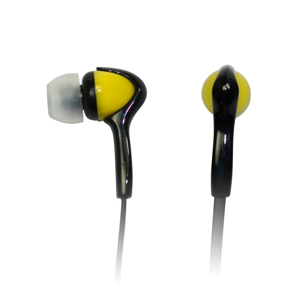 VAKOSS Stereofonní sluchátka do uší, super bass sound, černo-žluté