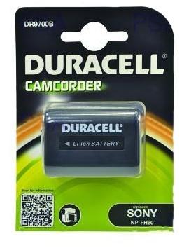 DURACELL Baterie - DR9700B pro Sony NP-FH60, černá, 1640 mAh, 7.4V