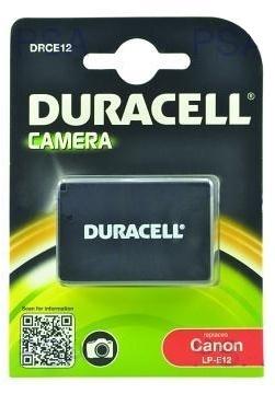 DURACELL Baterie - DRCE12 pro Canon LP-E12, černá, 600mAh, 7.2V