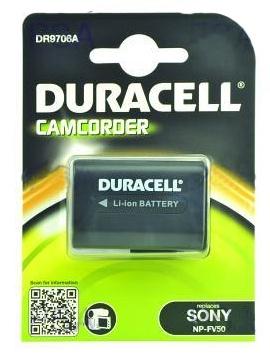 DURACELL Baterie - DR9706A pro Sony NP-FV30, černá, 650 mAh, 7.4V