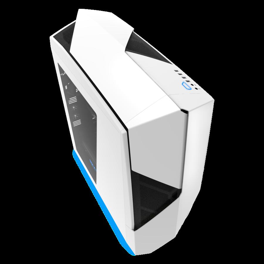 NZXT PC skříň Noctis 450, bílá, modrá LED