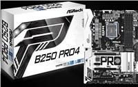 ASROCK MB B250 PRO4 (intel 1151, 4xDDR4 2400MHz, VGA+DVI +HDMI, USB3.0, 6xSATA3 + 2xM.2, 7.1, GLAN, ATX)