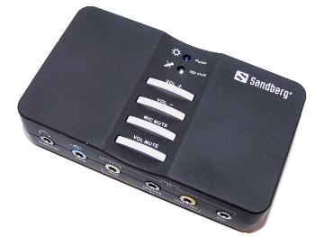 Sandberg USB externí zvuková karta Sound Box 7.1, černý